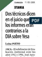 20060311 Juicio DAA Informes DIA
