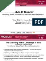 Mobile IT Keynote Case Study Panel Slide