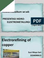 Electrorefining Cu