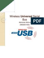 Wireless Universal Serial Bus by ABHISHEK MISHRA 0802831002