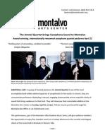 Amstel Quartet brings Saxophone Sound to Montalvo