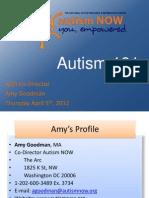 Autism 101 Webinar April 5, 2012