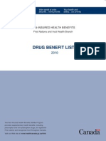 Drug Benefit List