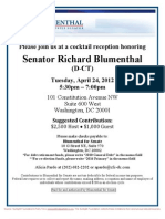 Cocktail Reception for Richard Blumenthal
