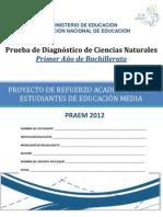Prueba_Diagnóstico_Ciencias_Naturales_Primer Año Bachillerato