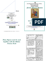 Festal Matins Hymns - 2012 - 25 April - St Mark Apostle and Evangelist