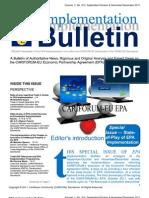 EPA Implementation Bulletin - Sep Dec 2011