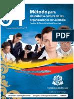 Metodo Para Describir La Cultura de Las Organizaciones en Colombia