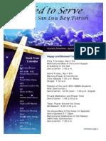 April Newsletter from Mission San Luis Rey Parish