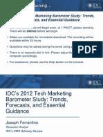 20120301 Idc Tech Marketing Barometer Study Preso Final
