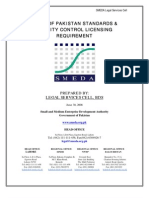 SMEDA Guide of Pakistan Standards & Quality Control Licensing Requirement