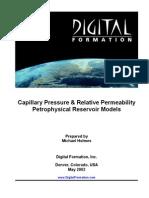 CapillaryPressureAndRelativePermeabilityPetrophysicalReservoirModels