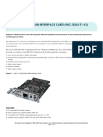 2811 CSU DSU T1 card