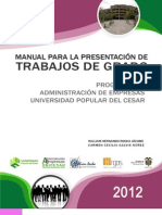Manual Presentacion de Trabajos de Grado Admon Con Rubrica