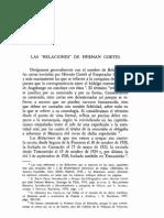 Relaciones de Hernan Cortes