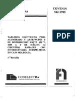 542-99covenin Tableros Electr