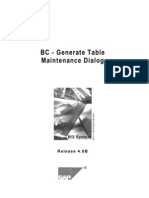 Table Maintainance