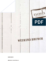 Nosh Brunch Menu