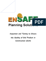 Inspection and Testing to Ensure  the Quality of End Product in   Construction Works
