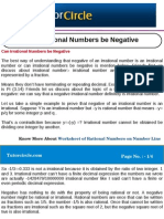 Can Irrational Numbers Be Negative