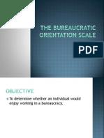 Bureaucratic Orientation Scale