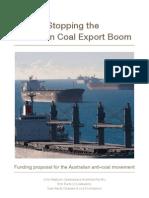 Stopping the Australian Coal Export Boom