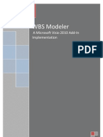 WBS Modeler User Guide 2010