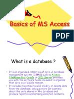 Basics of MS Access