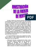 ADMINISTRACION DE LA FUERZA DE VENTAS