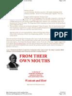 Heresies & Blasphemies of Westcott & Hort