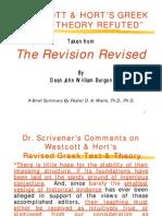 Westcott & Hort's Greek Text & Theory Refuted