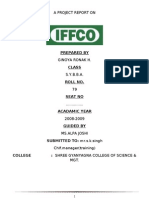 75658034 65104917 Iffco Bba Mba Project Report