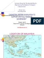 2-Cadastral Reform in Malaysia to Support Spatially Enabled Government HasanJamilTEhran24-26May2009