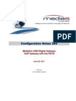 Configuration Notes 0284 Mediatrix 4400-DG VoIP Gateway PSTN-Scenario