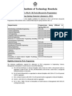 Advertisement for Admission to Ph.D & M.tech(Res)_30092011