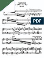 Beethoven Fantasia g Minor Op 77