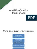 World Class Supplier Development