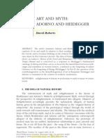 Adorno and Heidegger