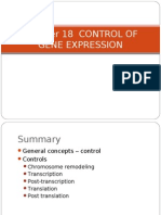 Chapter 18 Control of Gene Expression
