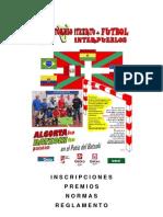 2012 Itxartu Futbito - Inscripciones, Premios, Normas, Reglamento