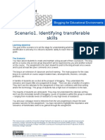 B4EE Scenario 1 - Identifying Transferable Skills
