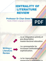 Writing a Literature Review 2012(1)