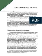 Fiskalni Sistem i Sistem i Fiskalna Politika