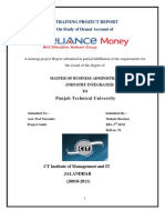 Reliance Money Project Final