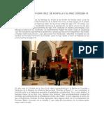 La Cofradía de la Vera Cruz de Montilla y el RIMZ CÓRDOBA 10