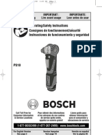 Bosch Drill Driver PS-10