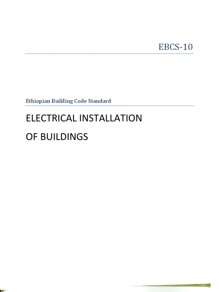 Ebcs 10 Ethiopian Building Code Standard Electrical Installation Of Telephone Wire Color Chart Raceway Wiring Systems Are Buildings Fuse
