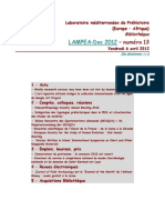 LAMPEA-Doc 2012 - numéro 13 / Vendredi 6 avril 2012