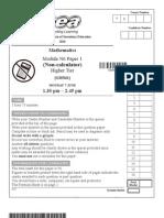 GCSE MATH Two Tier PP MayJune 2010 Higher Tier Module N6 Paper 1 6822