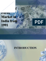 Growth of Forex Market in India From 1991